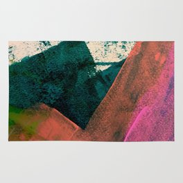 Expand [3]: a colorful, minimal abstract piece in pinks, green, and blue Rug