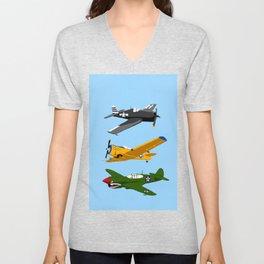 3 World War II Planes 1 Unisex V-Neck