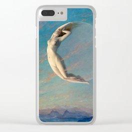 Albert Aublet Selene 1880 Clear iPhone Case