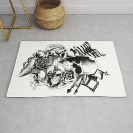 Skull Tattoo | bikers, motorcycle, rock and roll Rug