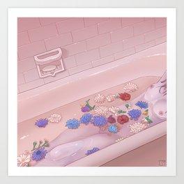 Flower Bath 9 Art Print