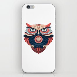Colorful Owl iPhone Skin