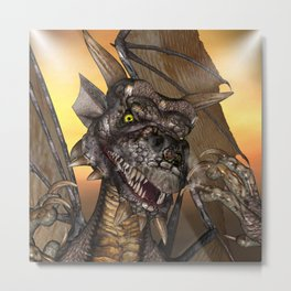 Edwin Dragon - a portrait Metal Print