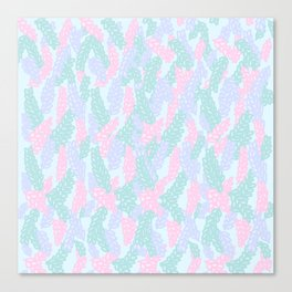 Sea Anemone Pastel Pattern Canvas Print