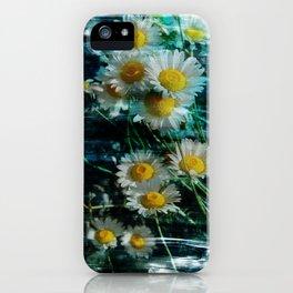 Ox-eye daisy flower brushstrokes iPhone Case