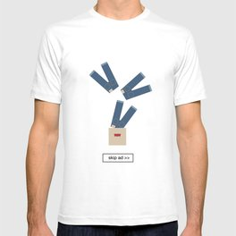 jeans ad T-shirt