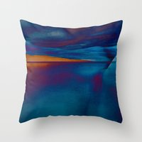 skyline Throw Pillows featuring Skyline by Stephen Linhart
