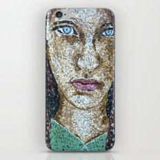 Broken Words - Scrabble Tile Mosaic iPhone & iPod Skin
