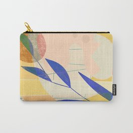 Shapes and Layers no.9 - Leaves and Grid Carry-All Pouch