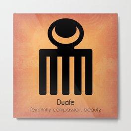 Duafe - Adinkra Art Poster Metal Print