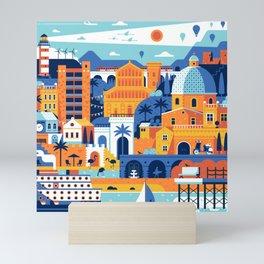 Cagliari Mediterranean Town Travel Cityscape Mini Art Print
