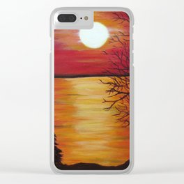 Another Beach Sunset Clear iPhone Case