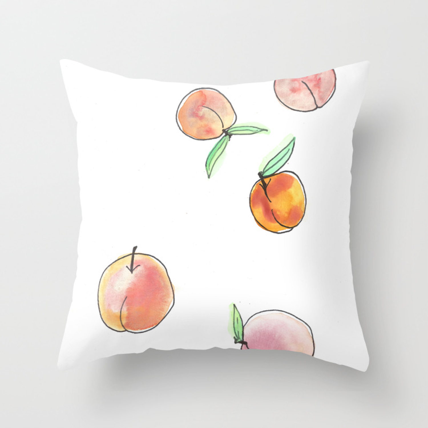 Peaches Throw Pillow By Jennross76 Society6