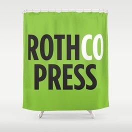 Rothco Press Logo Shower Curtain