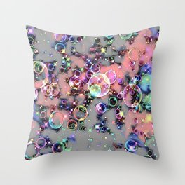 GALATHI Stunning Colors Bubbles White - Bubbles Throw Pillow