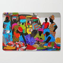 african market 1 Cutting Board