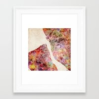 liverpool Framed Art Prints featuring Liverpool by MapMapMaps.Watercolors