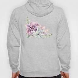 Desert Succulents on White Hoody