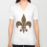 renaissance V-neck T-shirts featuring Renaissance Brown by Charma Rose