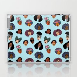 Black Hair Magic - Blue Laptop & iPad Skin
