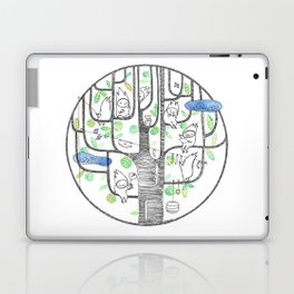 happy tree (black and green) Laptop & iPad Skin