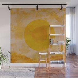 Yellow circle Wall Mural