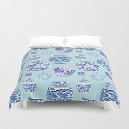 Chinoiserie Ginger Jar Collection No.3 Duvet Cover