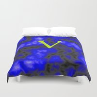 vegan Duvet Covers featuring Vegan blue by Ars Infinity - @ Roland Zulehner