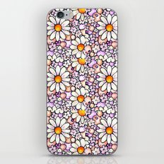 Large Blush Daisies Tiled iPhone Skin