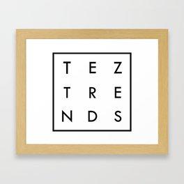 Tez Trends Logo Collection Framed Art Print