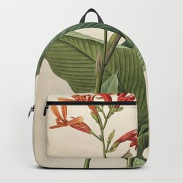 canna gigantea Redoute Roses 2 Backpack