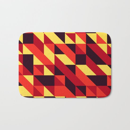 triangle lines Bath Mat