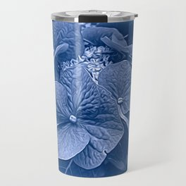 Hydrangea in Blue Travel Mug