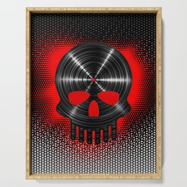 Vinyl Skull RED / The end of tunes Serving Tray