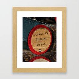Guinness beer barrel - great man cave art! Framed Art Print