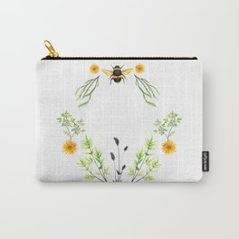 Bees in the Garden - Watercolor Graphic Carry-All Pouch