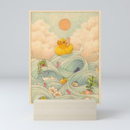 Duck at Sea Mini Art Print