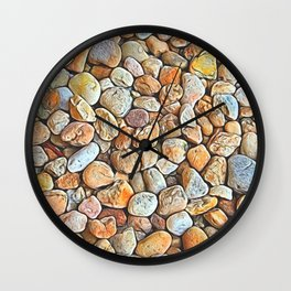 Neutrals with a Splash of Color Wall Clock