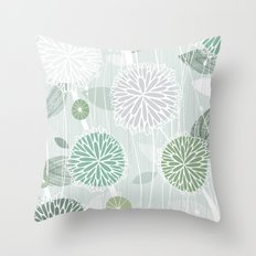 Abstract Floral by Friztin Throw Pillow