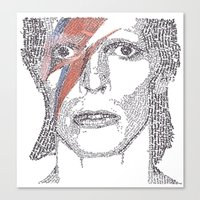 bowie Canvas Prints featuring Bowie by S. L. Fina