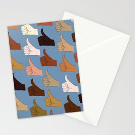Thumbs Up - Skin Tones Stationery Cards