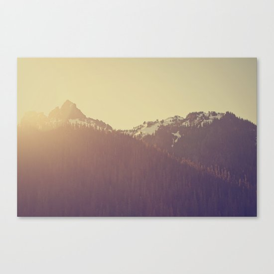 Sunrise over the Mountains Canvas Print