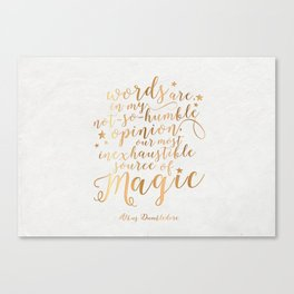 Dumbledore's Magic Words Canvas Print