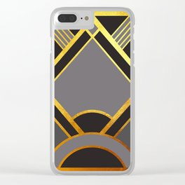 Art Deco New Tomorrow In Grey Clear iPhone Case