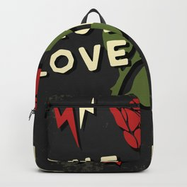 Grunge rock slogan print Backpack