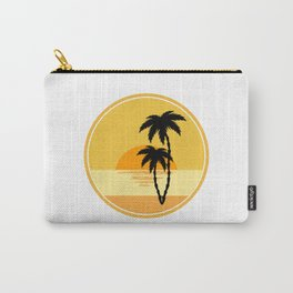 icon with sun and palm tree  Carry-All Pouch