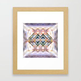 Multi-Colored Abstract Symmetry (Day) Framed Art Print