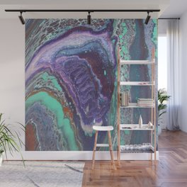 Cosmic Horse, Abstract Fluid Acrylic Painting Wall Mural