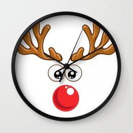 Christmas Rudolph reindeer winter nature gift Wall Clock