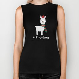 No Prob-llama Christmas Best Gift For Alpaca Lover Biker Tank